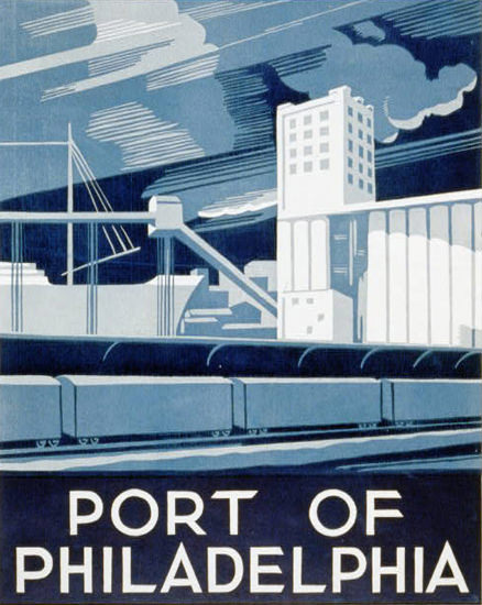Port Of Philadelphia | Vintage Ad and Cover Art 1891-1970