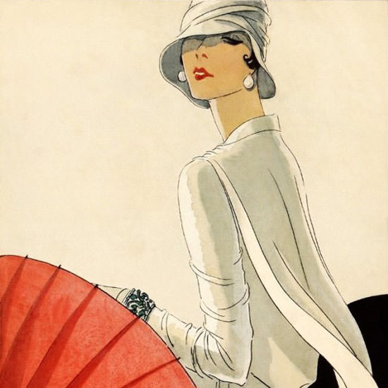 Porter Woodruff Vogue Cover 1928-01-11 Copyright crop | Best of Vintage Cover Art 1900-1970
