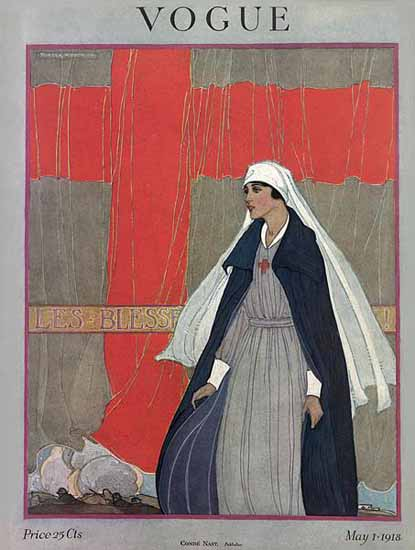 Porter Woodruff Vogue Magazine Cover 1918-05-01 Copyright | Vogue Magazine Graphic Art Covers 1902-1958