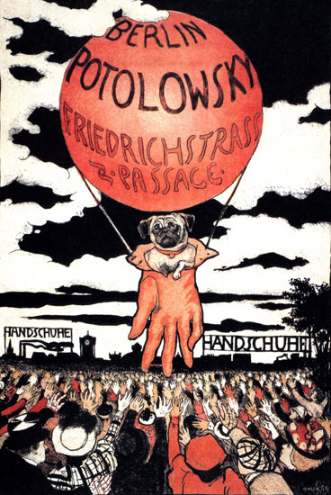 Potolowsky Handschuhe Berlin Germany Gloves | Vintage Ad and Cover Art 1891-1970