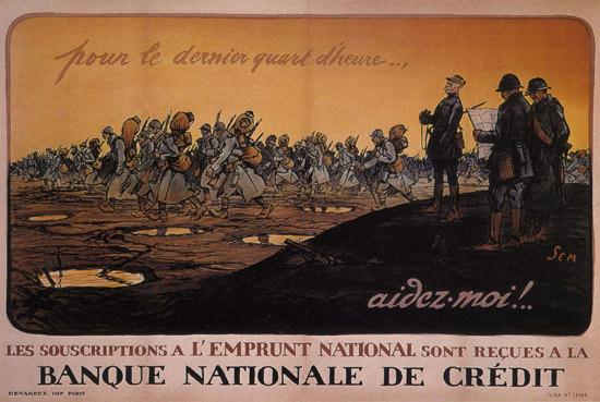 Pour Le Dernier Quart D Heure The Last Quarter | Vintage War Propaganda Posters 1891-1970