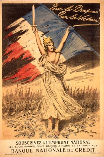 Pour Le Drapeau Pour La Victoire Souscrivez | Vintage War Propaganda Posters 1891-1970