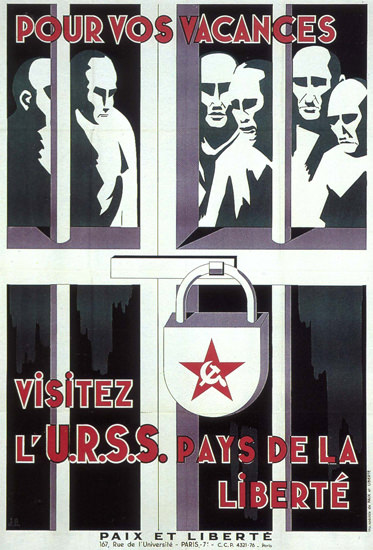 Pour Vos Vacances URSS For Holidays Visit USSR   Vintage War Propaganda Posters 1891-1970