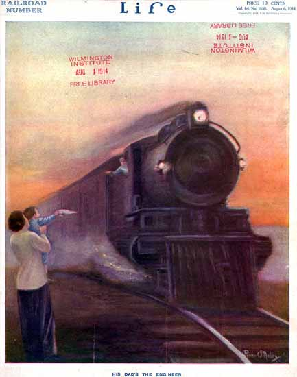 Power OMalley Life Humor Magazine 1914-08-06 Copyright | Life Magazine Graphic Art Covers 1891-1936