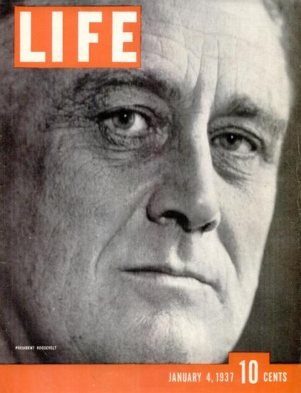 President Roosevelt 4 Jan 1937 Copyright Life Magazine | Life Magazine BW Photo Covers 1936-1970
