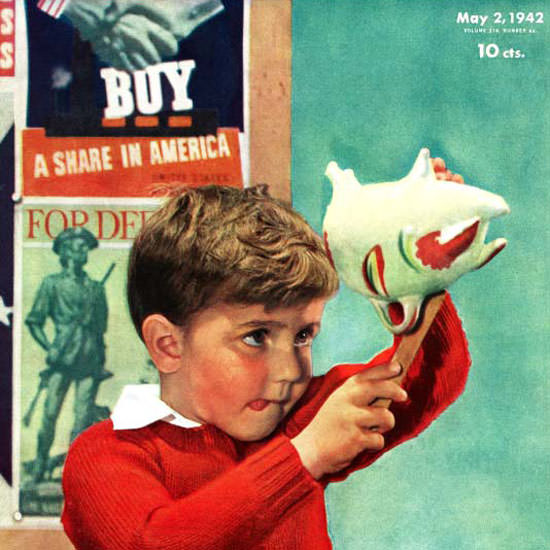 Preston Duncan Saturday Evening Post Bonds 1942_05_02 Copyright crop | Best of Vintage Cover Art 1900-1970