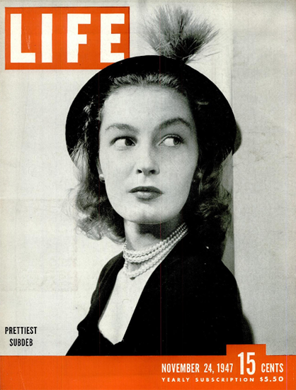 Prettiest Subdeb 24 Nov 1947 Copyright Life Magazine | Life Magazine BW Photo Covers 1936-1970