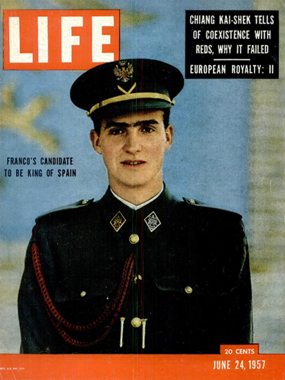 Prince Juan Carlos for King 24 Jun 1957 Copyright Life Magazine | Life Magazine Color Photo Covers 1937-1970