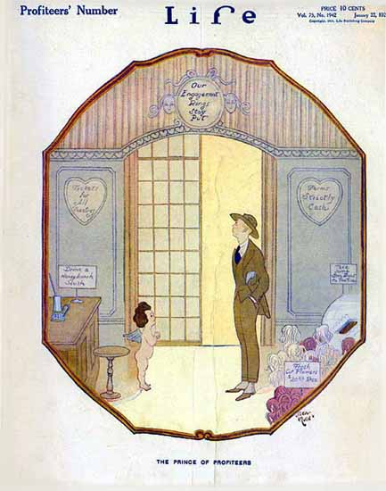 Prince of Profiteers Life Humor Magazine 1920-01-22 Copyright   Life Magazine Graphic Art Covers 1891-1936