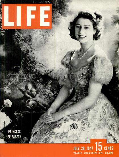 Princess Elizabeth 28 Jul 1947 Copyright Life Magazine | Life Magazine BW Photo Covers 1936-1970