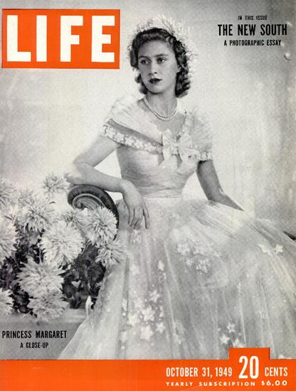 Princess Margaret a Close-Up 31 Oct 1949 Copyright Life Magazine | Life Magazine BW Photo Covers 1936-1970