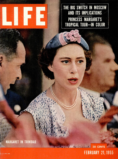 Princess Margaret in Trinidad 21 Feb 1955 Copyright Life Magazine | Life Magazine Color Photo Covers 1937-1970