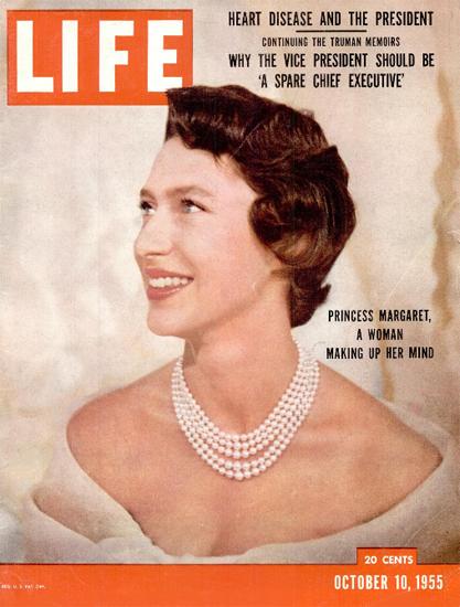 Princess Margaret making up Mind 10 Oct 1955 Copyright Life Magazine | Life Magazine Color Photo Covers 1937-1970