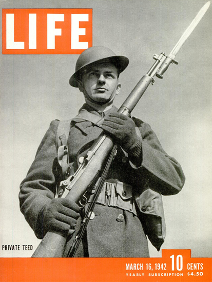 Private Charles Edward Teed 16 Mar 1942 Copyright Life Magazine   Life Magazine BW Photo Covers 1936-1970