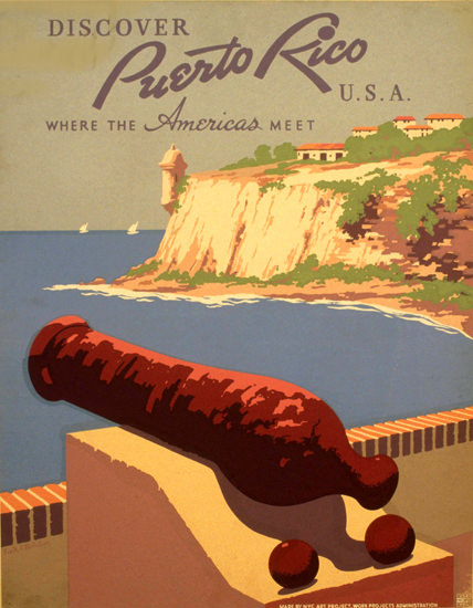 Puerto Rico USA Where The Americas Meet 1940 | Vintage Travel Posters 1891-1970