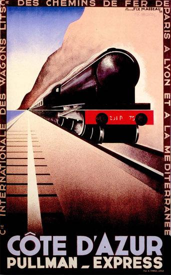Pullman-Express Cote D Azur 1929 | Vintage Travel Posters 1891-1970