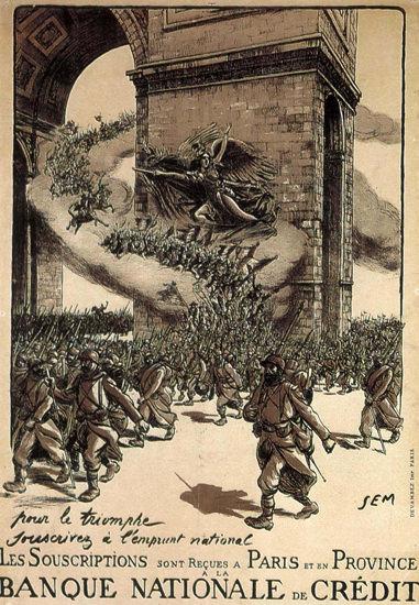 Pur Le Triomphe  Souscrivez Emprunt France | Vintage War Propaganda Posters 1891-1970