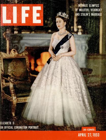 Queen Elizabeth Coronation Portrait 27 Apr 1953 Copyright Life Magazine | Life Magazine Color Photo Covers 1937-1970