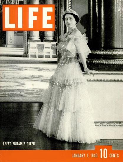 Queen Elizabeth I 1 Jan 1940 Copyright Life Magazine   Life Magazine BW Photo Covers 1936-1970