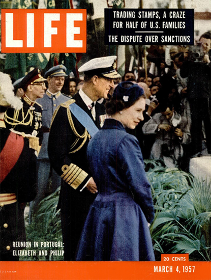 Queen Elizabeth II and Prince Philip 4 Mar 1957 Copyright Life Magazine | Life Magazine Color Photo Covers 1937-1970
