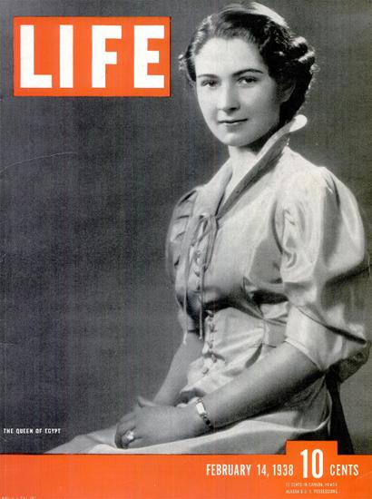 Queen of Egypt 14 Feb 1938 Copyright Life Magazine | Life Magazine BW Photo Covers 1936-1970