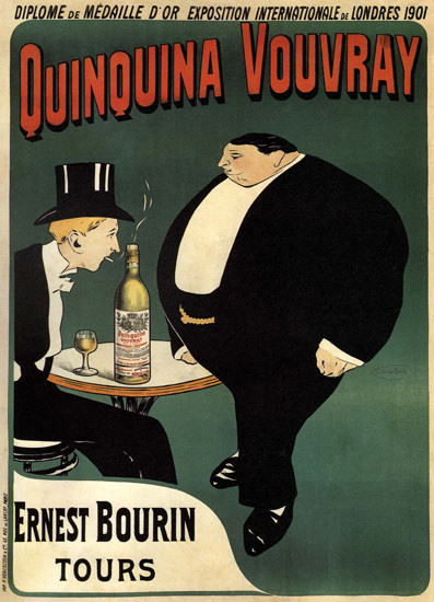 Quiquina Vouvray Ernest Bourin France | Vintage Ad and Cover Art 1891-1970