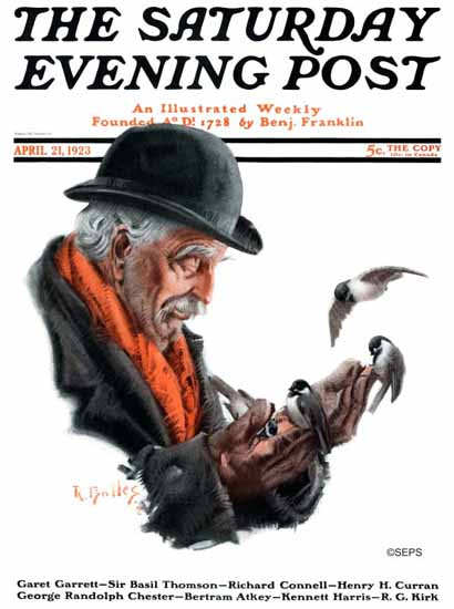 R Bolles Saturday Evening Post Cover Art 1923_04_21 | The Saturday Evening Post Graphic Art Covers 1892-1930
