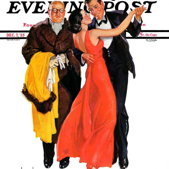 RJ Cavaliere Saturday Evening Post Cutting In 1935_12_07 Copyright crop | Best of Vintage Cover Art 1900-1970