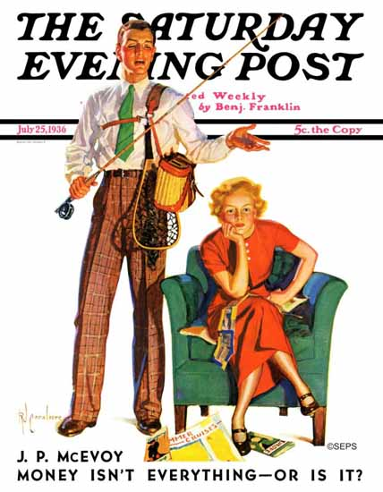 RJ Cavaliere Saturday Evening Post Whose Vacation 1936_07_25 | The Saturday Evening Post Graphic Art Covers 1931-1969