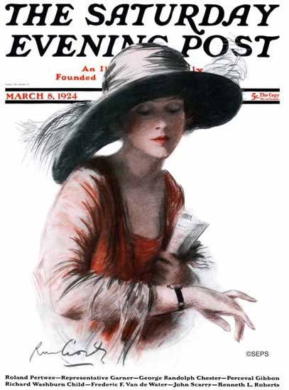 RM Crosby Saturday Evening Post Cover Art 1924_03_08 | The Saturday Evening Post Graphic Art Covers 1892-1930