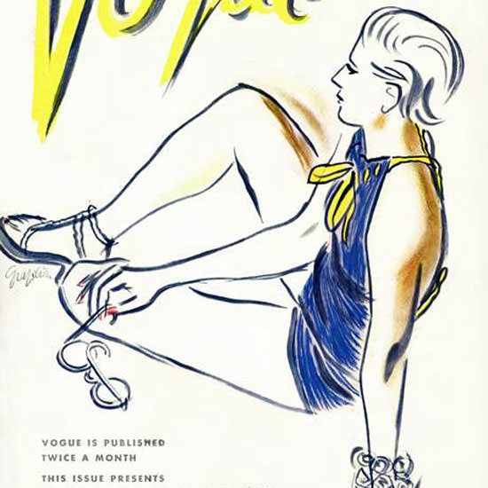 RS Grafstrom Vogue Cover 1935-01-01 Copyright crop | Best of 1930s Ad and Cover Art