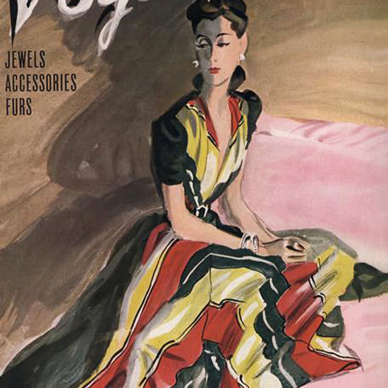 RS Grafstrom Vogue Cover 1939-1-015 Copyright crop | Best of 1930s Ad and Cover Art