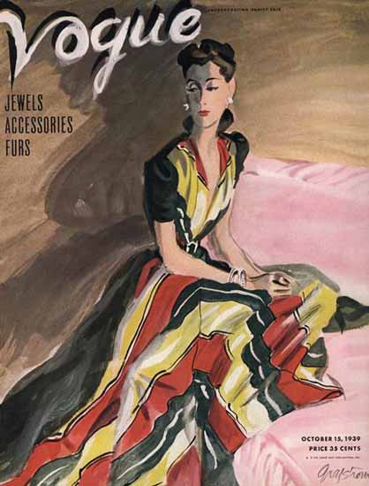 RS Grafstrom Vogue Cover 1939-1-015 Copyright   Vogue Magazine Graphic Art Covers 1902-1958
