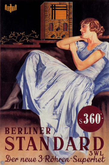 Radio Girl Berliner Standard 3-Roehren Superhet | Sex Appeal Vintage Ads and Covers 1891-1970