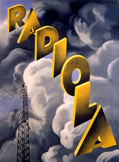 Radiola RKO Radio Station Max Ponty | Vintage Ad and Cover Art 1891-1970