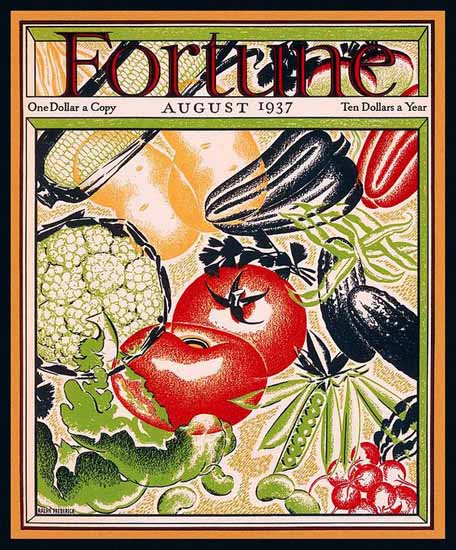 Ralph Frederick Fortune Magazine August 1937 Copyright | Fortune Magazine Graphic Art Covers 1930-1959