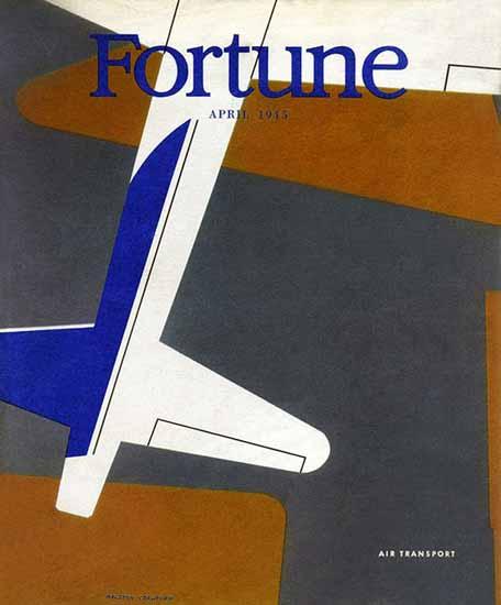 Ralston Crawford Fortune Magazine April 1945 Copyright | Fortune Magazine Graphic Art Covers 1930-1959