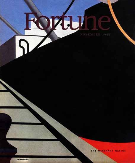 Ralston Crawford Fortune Magazine November 1944 Copyright | Fortune Magazine Graphic Art Covers 1930-1959