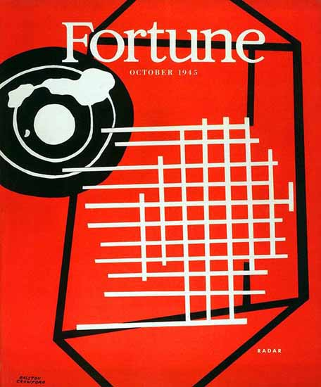 Ralston Crawford Fortune Magazine October 1945 Copyright | Fortune Magazine Graphic Art Covers 1930-1959