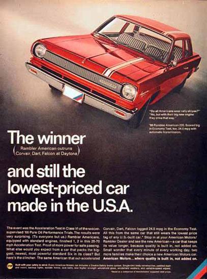 Rambler American Motors 1966 Car In The USA   Vintage Cars 1891-1970