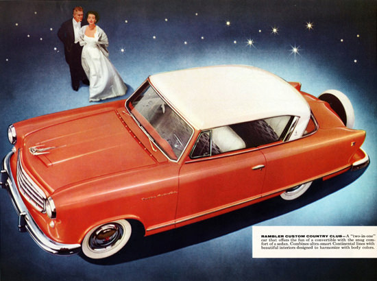 Rambler Custom Country Club 1955 Two In One | Vintage Cars 1891-1970