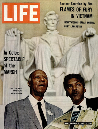 Randolph Rustin March Washington 6 Sep 1963 Copyright Life Magazine | Life Magazine Color Photo Covers 1937-1970