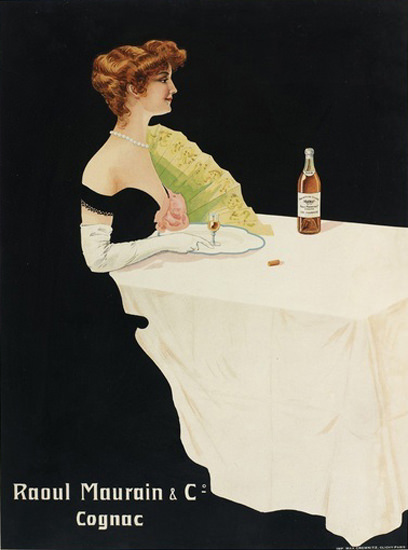 Raoul Maurain Cognac Lady | Sex Appeal Vintage Ads and Covers 1891-1970