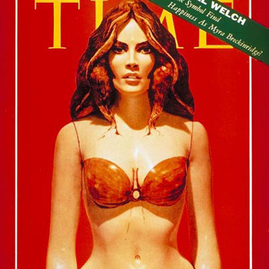 Raquel Welch Time Magazine 1969-11 crop | Best of Vintage Cover Art 1900-1970
