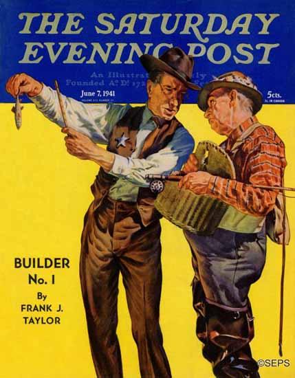 Rauschert J Karl Saturday Evening Post Not a Keeper 1941_06_07 | The Saturday Evening Post Graphic Art Covers 1931-1969