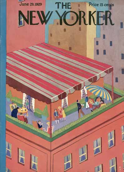 Ray Euffa The New Yorker 1929_06_29 Copyright | The New Yorker Graphic Art Covers 1925-1945