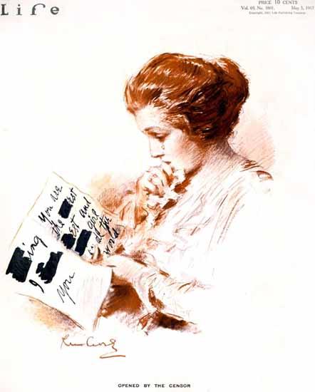 Raymond M Crosby Life Humor Magazine 1917-05-03 Copyright | Life Magazine Graphic Art Covers 1891-1936