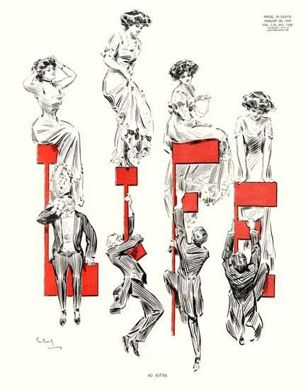 Raymond M Crosby Life Magazine Ad Astra 1909-08-26 Copyright   Life Magazine Graphic Art Covers 1891-1936