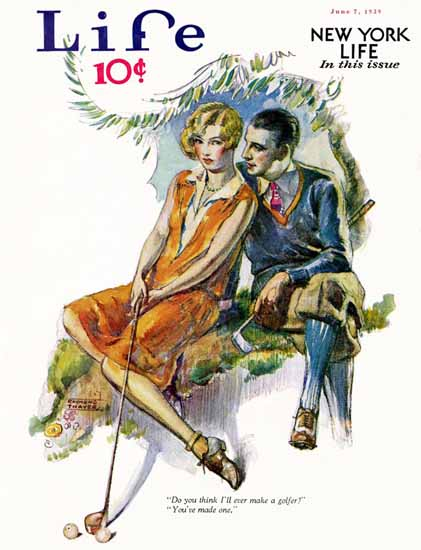 Raymond Thayer Life Humor Magazine 1929-06-07 Copyright   Life Magazine Graphic Art Covers 1891-1936