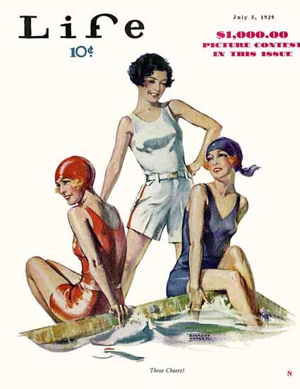 Raymond Thayer Life Magazine Three Cheers 1929-07-05 Copyright | Life Magazine Graphic Art Covers 1891-1936